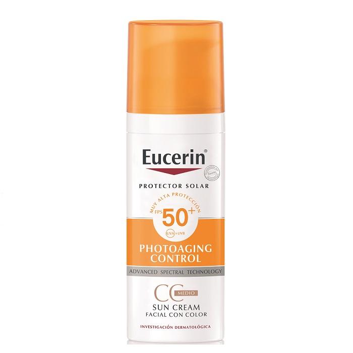 Eucerin Protector Solar Photoaging 50+ con color 50ml