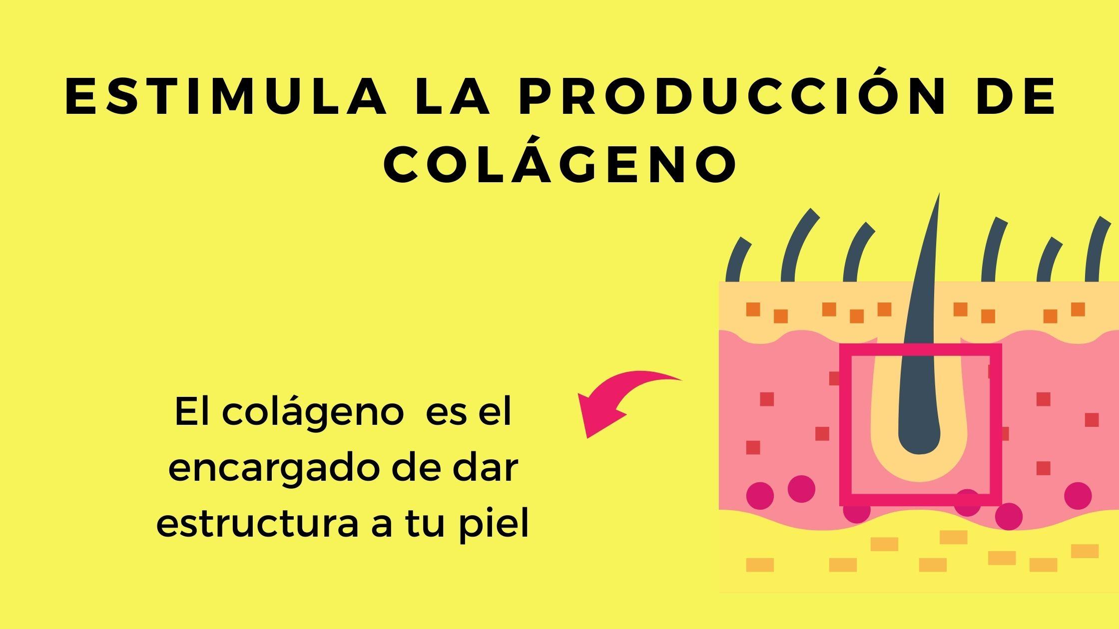 El colágeno ayuda a cerrar los poros