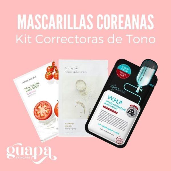 Mascarillas Coreanas Kit Correctoras de Tono
